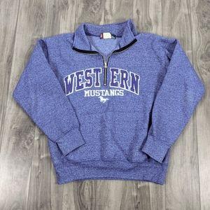 Western University Purple Mustangs Sweatshirt XS
